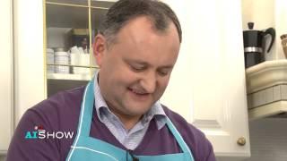 Provocare AISHOW: Igor Dodon prepară salată Olivier