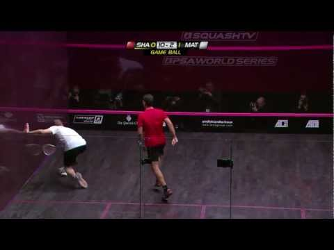 Squash : ATCO PSA 2012 World Series Finals - Final Roundup Shabana v Matthew