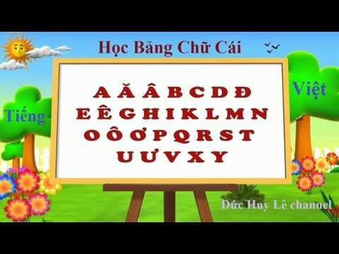 Video dạy bé học bảng chữ cái tiếng Việt