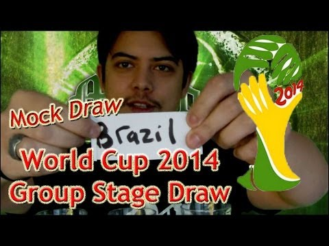 Brazil 2014 Mock Group Stage Draw
