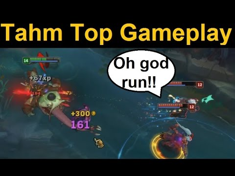 Tahm Top Full Gameplay Spotlight - In-Game Solo Top Tahm Kench