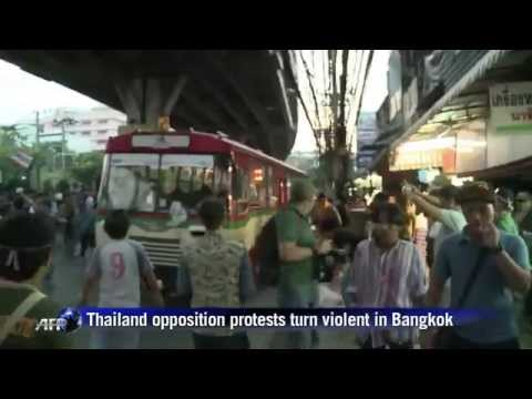 กำนันสุเทพ Thailand Protests Thai political protests turn violent, one dead