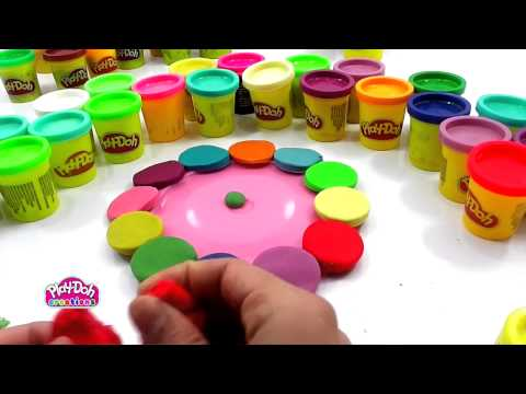 How to make a Colorfull Wall Watch with Play Doh Toy 720p