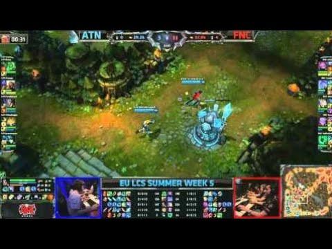 Alternate (ATN) vs Fnatic (FNC) || EU LCS Summer 2013 W5D1 || Full Game HD