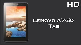Lenovo A7-50 Calling Tab Launch With 1 GB RAM, 3450 MAh