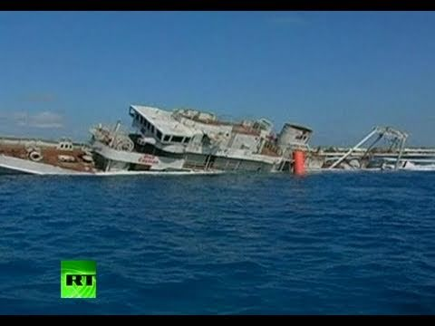 Sinking Feeling: Video of US Navy ship scuttled as dive attraction