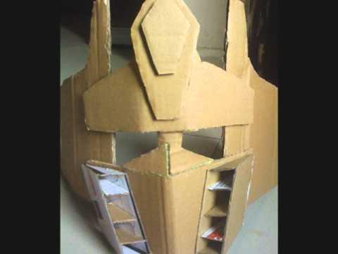 Как сделать из картона шлем оптимуса прайма