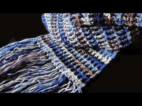 Basic Crochet Stitches Youtube : How to: Crochet Waffle Stitch Scarf - YouTube