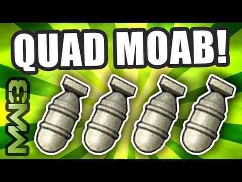 MW3 - QUAD MOAB Gameplay! World's First! - A.A.A Ep.4 w/ Raimpstage! (Modern Warfare 3)