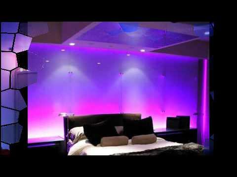 bedroom led lighting 1 youtube. Black Bedroom Furniture Sets. Home Design Ideas