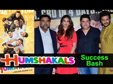 Riteish Deshmukh, Esha Gupta, Ram Kapoor And Sajid Khan Attend The Success Party Of 'Humshakals'