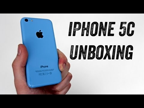 iPhone 5c Unboxing (BLUE iPhone 5c Launch Day Unboxing)