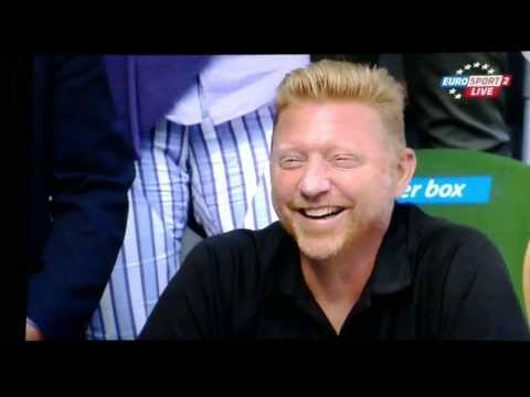 Novak Djokovic Boris Becker Funny Moment