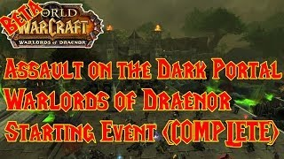 NEW EVENT: Assault On The Dark Portal Warlords Of