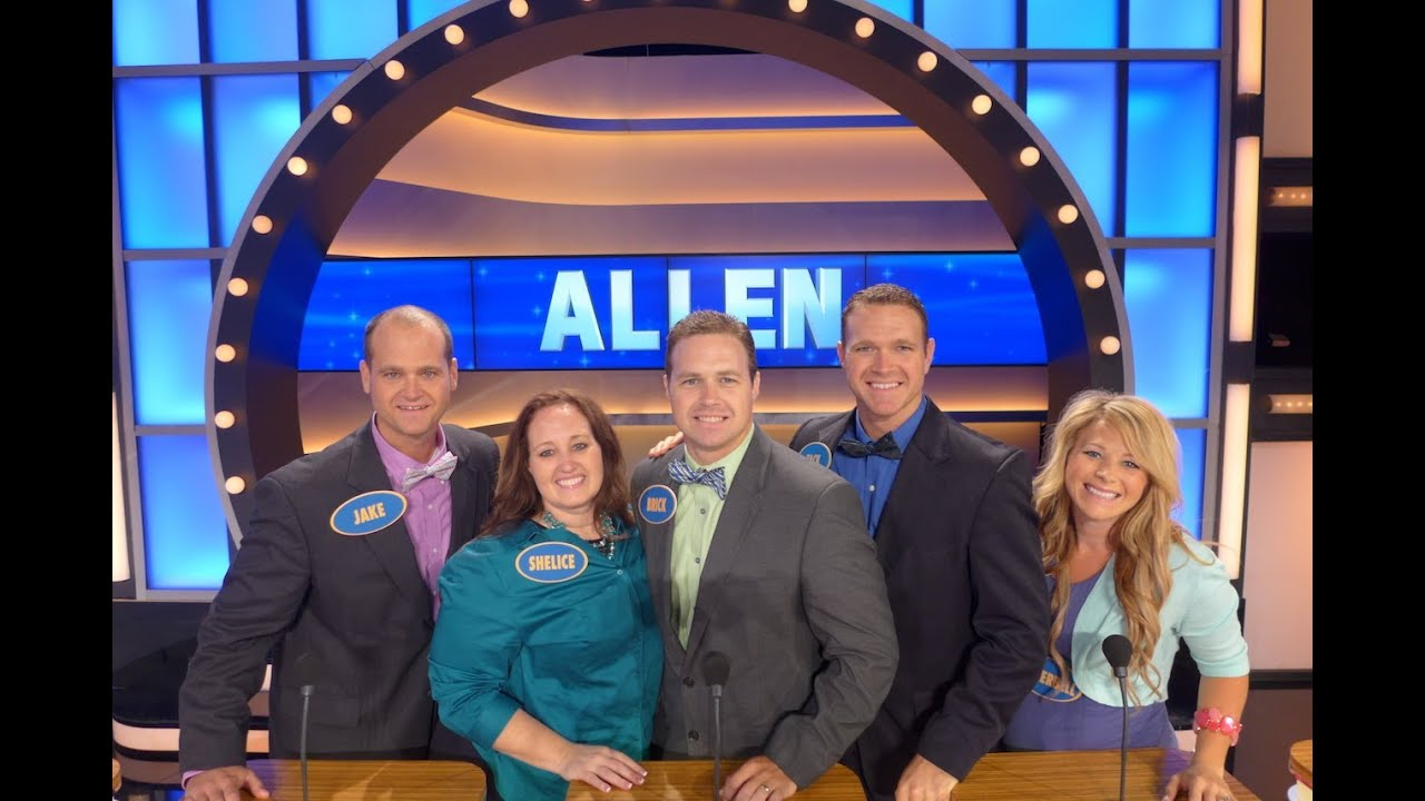 Allen family quot legendary quot 190 point fast money first round family feud