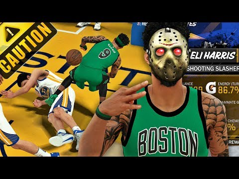 NBA 2K18 MyCAREER - NEW PLAYER BUILD IS A DEMON!! ENDED ZAZA CAREER WITH CONTACT DUNK!!