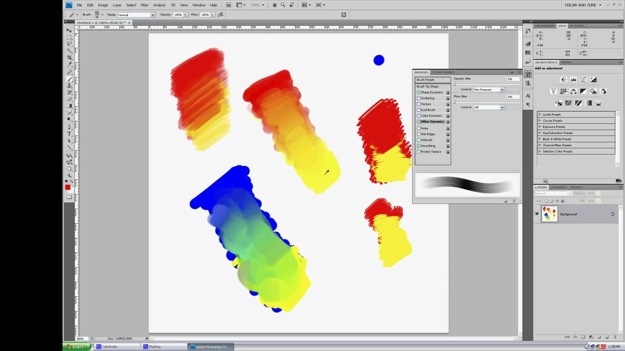 Photoshop Cc Painting Mixing Colors