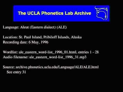 Aleut audio: ale_eastern_word-list_1996_31