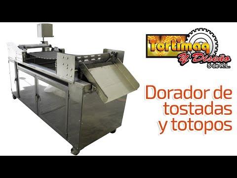 Máquina para tostadas y totopos - Dorador de tostadas   tortimaq.com.mx