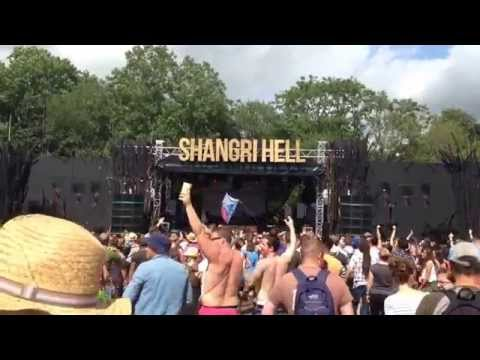 Craig Charles Gets the Crowd Hyped - Glastonbury 2014 - Shangri Hell Stage