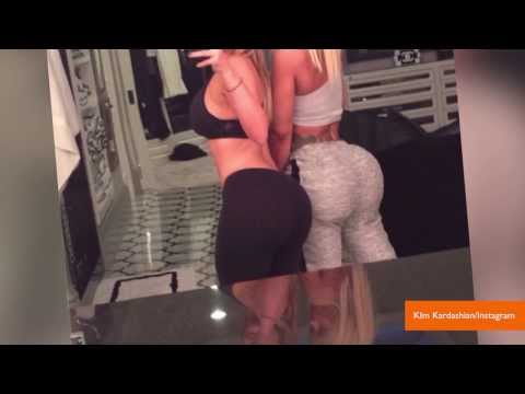 Kim Kardashian and Blac Chyna Compare Butts in Selfie