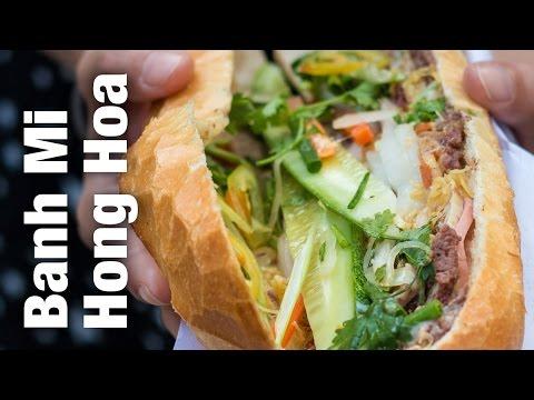 Banh Mi Sandwich at Bánh Mì Hồng Hoa - Amazing Vietnamese Street Food in Saigon, Vietnam!
