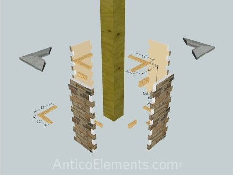 stacked stone installation instructions