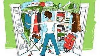 Organizando ropa de niños
