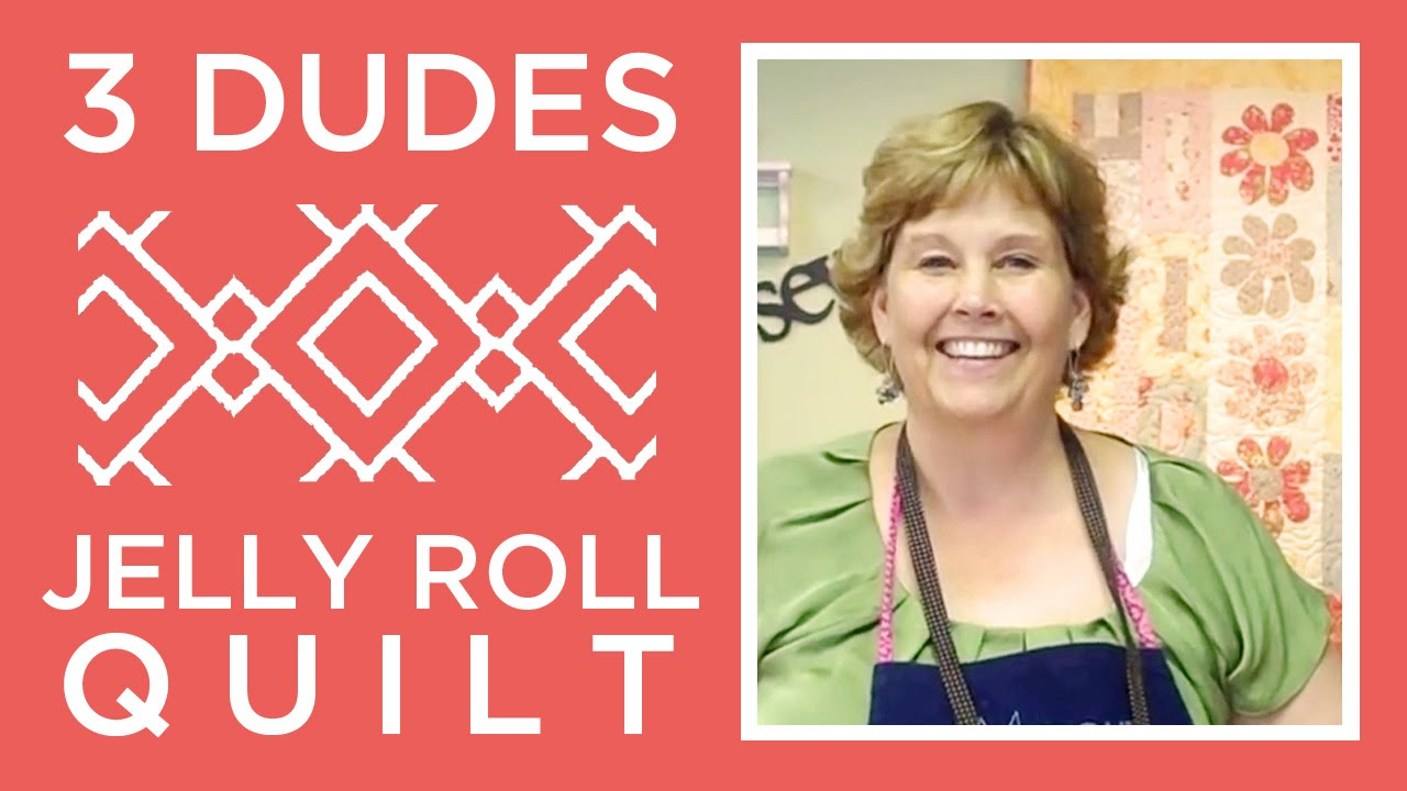 Amazing Jelly Roll Quilt Pattern By 3 Dudes Youtube