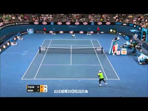 Donald Young vs Kei Nishikori (2014 AO)