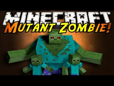 Minecraft Mod Showcase : MUTANT ZOMBIES!, DEAR GOD, I THOUGHT MUTANT CREEPERS WERE BAD! NOW ZOMBIES?! THE MOST UNHOLY THING IN MINECRAFT HAS BEEN UNLEASHED! Download the mod here! (Tell em Sky sent y...