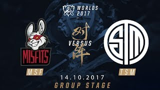 [14.10.2017] MSF vs TSM [Group Stage][Tie-break ][CKTG2017][Bảng D]