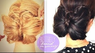 ★ BUTTERFLY BRAID TUTORIAL CUTE BUN HOLIDAY HAIRSTYLES