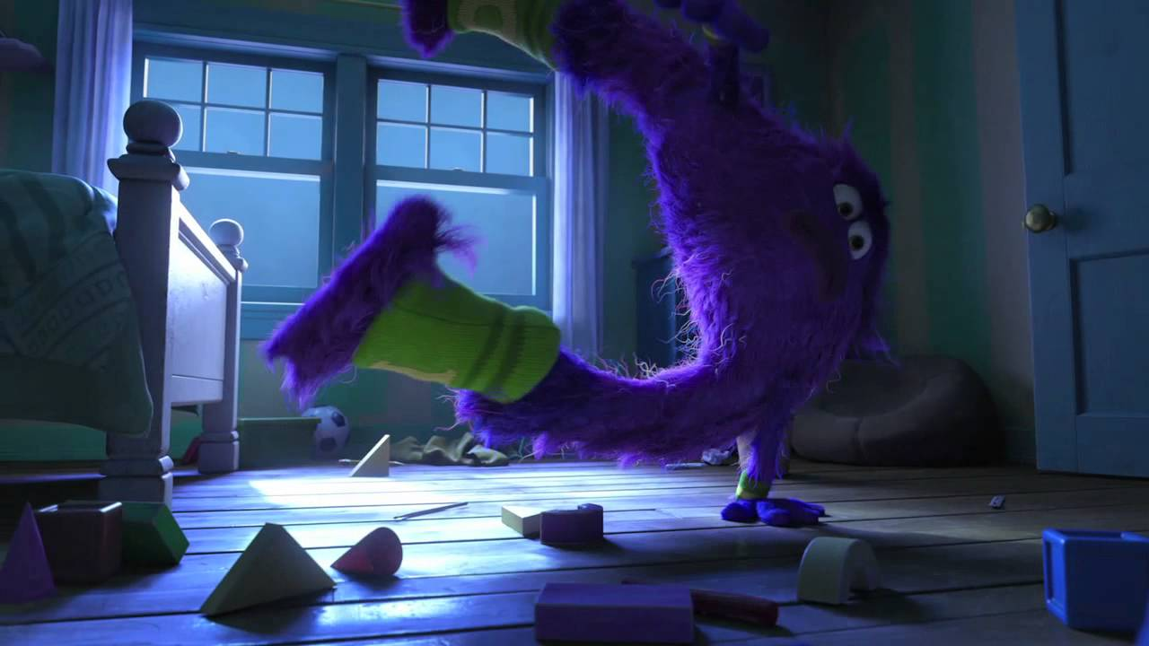 monsters university bedroom bedlam youtube