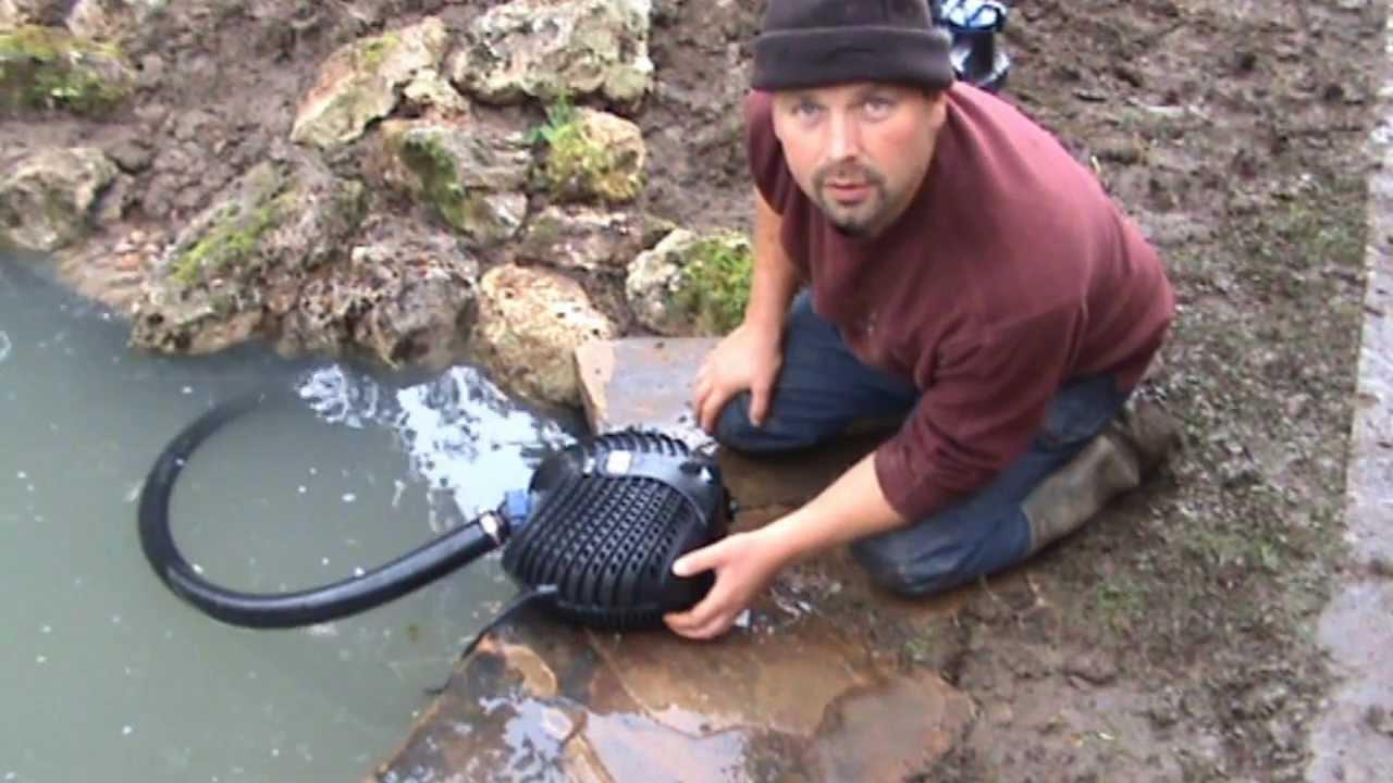 How to build a fish pond and stream cascade complete for How to build a small pond for fish