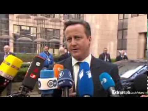 Ukraine crisis: David Cameron urges 'clear message' for Russia at EU summit