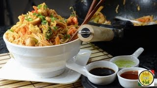 Asian Noodles with Chicken and Shrimp ..