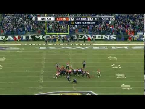 Baltimore Ravens Vs Cincinnati Bengals Justin Tucker Game Winning Field Goal