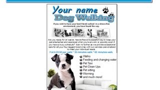 Dog Walking Flyer Leaflets Templates Youtube