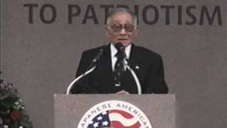 Rudy Tokiwa, WWII Veteran speaks at the Dedication, November 9, 2000 view on youtube.com tube online.