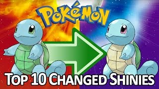 Top 10 Generation 1 Pokemon That Changed Their Shiny Coloration Over Time!
