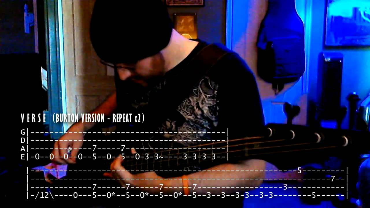 u0026quot;For Whom The Bell Tollsu0026quot; - Metallica -=- Bass w/ Tabs (HD Lesson/Cover) - YouTube