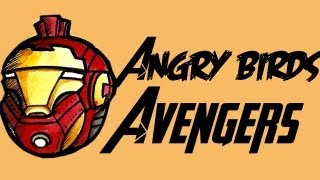 Angry Birds Avengers (Time Lapse Drawing)
