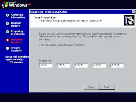 Windows xp sp2 product key youtube for Windows 07 product key
