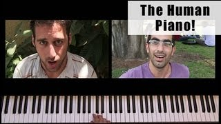 The Human Piano: Super Mario Theme