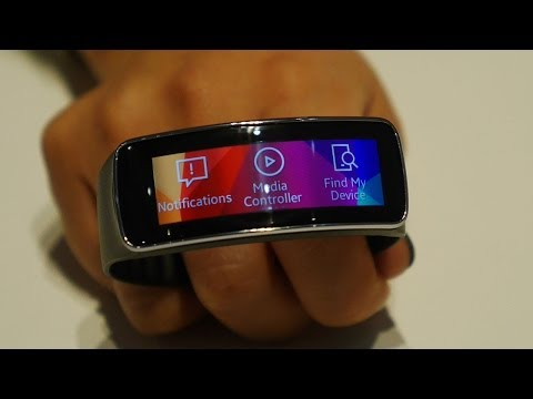 Samsung Gear Fit First Look and Hands On