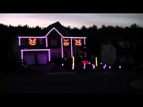 2012 Halloween Light Show - Gangnam Style