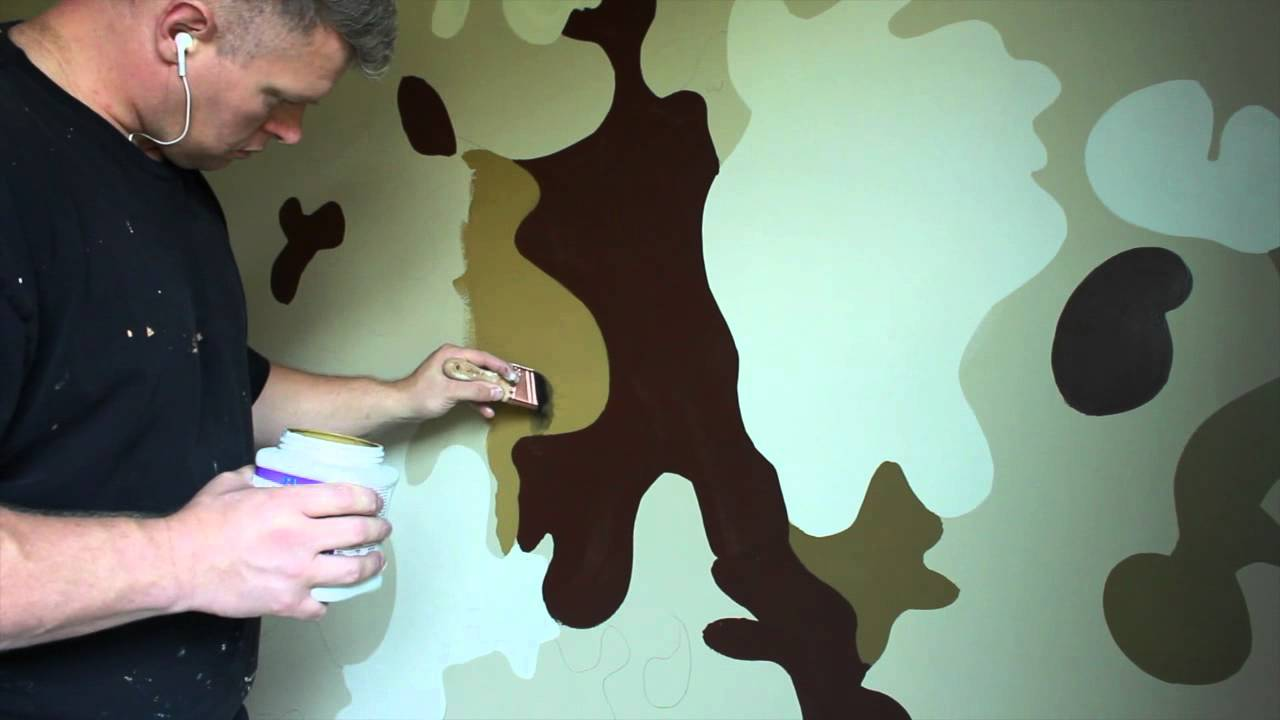 How To Paint Hunting Camo On Walls