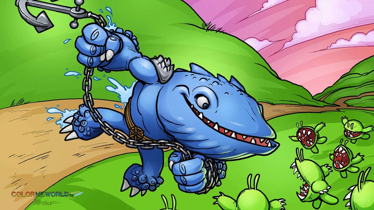 Skylanders giants thumpback art coloring page youtube - Skylanders thumpback ...