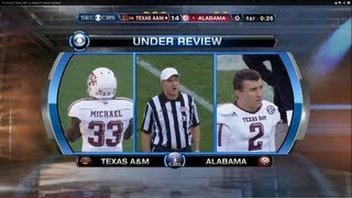 11/10/2012 Texas A&M vs Alabama Football Highlights
